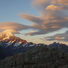 Lenticular Clouds over Mt Cook, New Zealand | Photo by mbvic on Reddit - #OurPlanetDaily