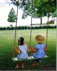 exciting small backyard playground kids design ideas page 49 Outdoor Play, Outdoor Living, Outdoor Swings, Garden Swings, Outdoor Rooms, Double Swing, Backyard Playground, Playground Kids, Backyard Playset