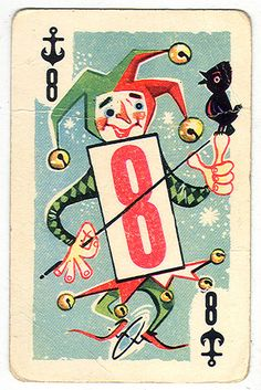 Whitman Jester Playing Card #cards #games #gifts #giftlab