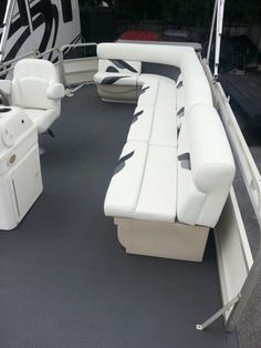 Brand new upholstery on this freshly sprayed Line-X deck.