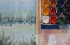 Как нарисовать дождь [Гуашь]