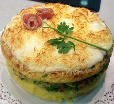 Receta de Pastel de tortillas con bechamel - Fácil