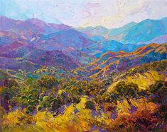 $15,800  60 x 48  oil on canvas 2016 Carmel Valley landscape oil painting inspired by central California springtime travels.