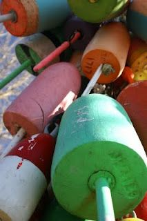 Maine lobster trap buoys !