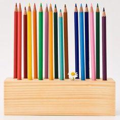 Wood Desk Organizer Pencil Holder