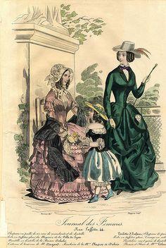 'Journal des Femmes' Equestrian Fashions, Summer 1847
