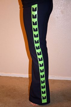 Hawk Pattern Yoga Pants, Seahawk Pattern Navy Women's pants. This might actually motivate me to do yoga
