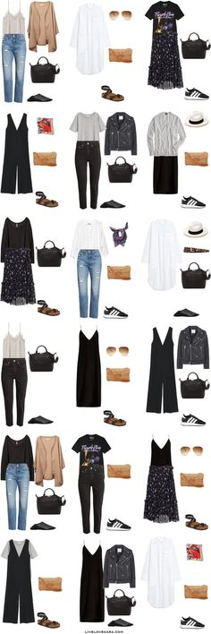 29 ideas for travel europe outfits summer capsule wardrobe Europe Outfits Summer, Paris Outfits, Italy Outfits, Mode Outfits, Casual Outfits, Fashion Outfits, Europe Spring, Summer Dresses, Fashion Clothes