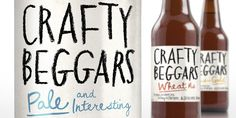 Crafty Beggars - The Dieline - Designed by Curious Design #packagingdesign #beer