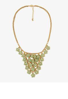 Shimmering Flower Bib Necklace | FOREVER 21 - 1030187256