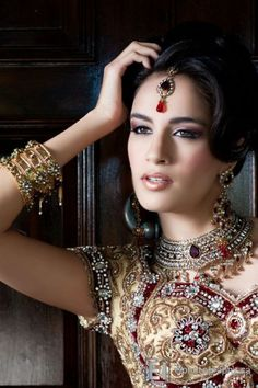 Indian Bridal Wear - Jewelry and Dress.
