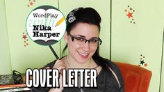 How to Write a Cover Letter: WordPlay with Nika Harper Creative Cover Letter, Writing A Cover Letter, Cover Letters, Dear Daughter, Business Writing, Word Play, Great Videos, Cute Gif, Job Search