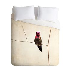 Slip into sweet dreams with the Hummingbird Lullaby Duvet Cover. Boasting a beautiful photographic rendering of a vibrantly hued hummingbird, this lightweight covering is sure to add character to your ...  Find the Hummingbird Lullaby Duvet Cover, as seen in the Naturalist's Sanctuary Collection at http://dotandbo.com/collections/naturalists-sanctuary?utm_source=pinterest&utm_medium=organic&db_sku=106686