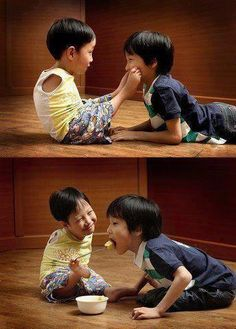 """I don't know what board to pin this on...  Love is expressed anywhere anyhow anyway, across any """"boundary"""".  Children are often the best examples of loving indiscriminately"""