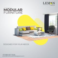 Get furniture that matches the decor of your room and suits your requirements. Find modular furniture for your living areas, dining, and bedrooms. Call us today! #modularfurniture #LemonInteriorDesigners #interiordesignerskochi #interiordesigners #kochi Furniture Brochure, Furniture Ads, Modular Furniture, Graphic Design Brochure, Graphic Design Posters, Branding Design, Creative Poster Design, Creative Posters, Creative Advertising