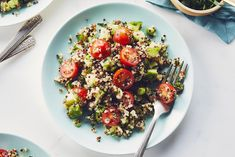 Delicious summer side recipes, perfect for backyard entertaining. Enjoy these flavourful, delicious and easy to make summer side recipes. Tabbouleh Recipe, Quinoa Tabbouleh, Quinoa Salad, Heart Healthy Recipes, Vegetarian Recipes, Cooking Recipes, Vegetarian Dish, Veggie Side Dishes, Side Dishes Easy