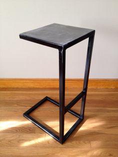 Metal Stool by ReidIndustrialDecor on Etsy, $300.00