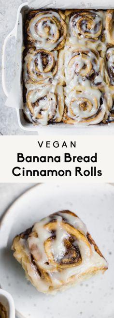 Vegan Banana Bread, Vegan Bread, Vegan Butter, Cinnabon, Vegan Cinnamon Rolls, Almond Breeze, Eat This, Vegan Cream Cheese, Thing 1