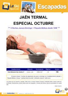 Escapada Termal Jaén: 3 Noches Jueves-Domingo Octubre + Paquete Belleza desde 195€ ultimo minuto - http://zocotours.com/escapada-termal-jaen-3-noches-jueves-domingo-octubre-paquete-belleza-desde-195e-ultimo-minuto/
