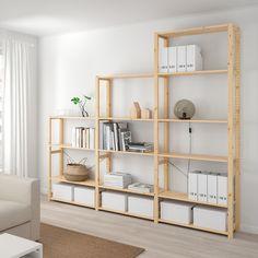 Ikea Shelving Unit, Ikea Shelves, Shelving Systems, Ikea Hejne, Cube Storage Unit, Muji Storage, Storage Organizers, Muji Home, Ikea Regal