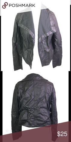 d18b1ab97 H&M genuine leather jacket BNWT Short leather biker jacket with a ...