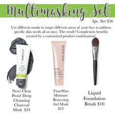 Charcoal Mask Multi-Masking!! A definite go to combo!!!<3 Pre-Order Now!
