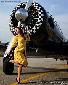 FLY ME AWAY... NEVA MOORE © Photo by Curtis Noble Photography #aviationglamourmodels