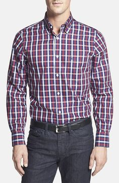 Nordstrom Smartcare™ Regular Fit Check Sport Shirt available at #Nordstrom