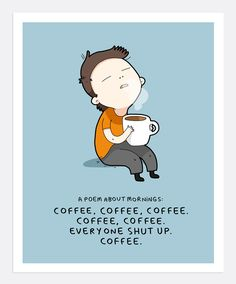 Coffee Poem Print A4 | Lingvistov