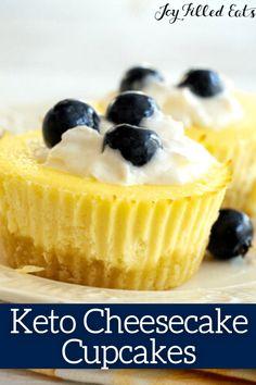 Low Carb Cheesecake Recipe, How To Make Cheesecake, Cheesecake Cupcakes, Cheesecake Bites, Sugar Free Desserts, Sugar Free Recipes, Low Carb Desserts, Keto Recipes, Keto Foods