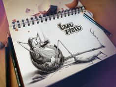 Офигенные рисунки в блокноте Дизайнер-фрилансер из Франции, работающий под псевдонимом Pez