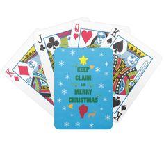 X'mas Tree Keep Claim and Merry Xmas Play Card Deck Of Cards