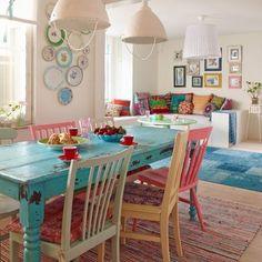 Cuisine colorée au style Bohémien et #Hippie #Chic > rendez-vous sur le blog…