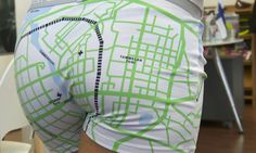 City map printed on underwear, proudly worn by locals or bought as souvenir by tourists in Tampere, Finland. Available for men and women.
