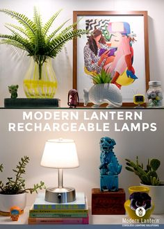CORDLESS decorative lamps, you can place ANYWHERE, only from ModernLantern.com