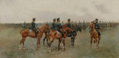 Josep Cusachs, Maniobras, 1890. Military Uniforms, Military Art, Montpellier, Academia Militar, Horse Art, World History, 18th Century, Painting, Illustrators