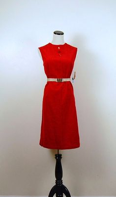 Vintage Red 1970s Dress by CheekyVintageCloset on Etsy, $28.00