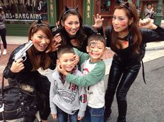 @usj_official Tommy and Mikey with Cat Ladies at USJ Halloween 2014