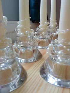 Veronika Kreatív Tára: Esküvői készülődés - gyertyák