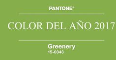 Color Pantone 2017, greenery, verde