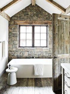 = stone, wood and white stool