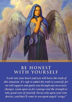Oracle Card Be Honest with Yourself | Doreen Virtue | official Angel Therapy Web site[good card today. I want to write about my desires tonight for more clarity.]