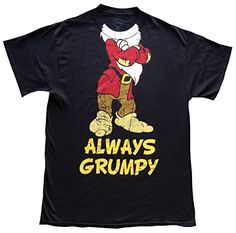 DISNEY Mens TShirt Always Grumpy Vintage Look XL Black >>> More info could be found at the image url.