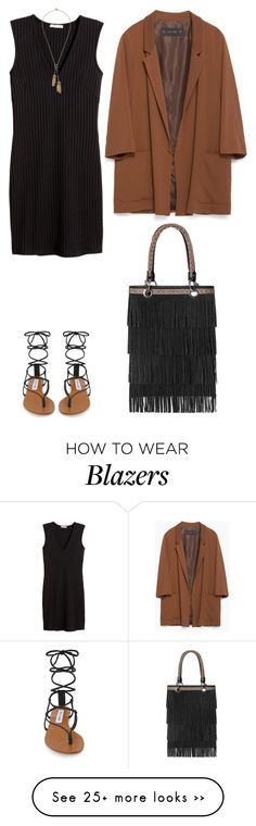"""""""Sans titre #5604"""" by youngx on Polyvore featuring Steve Madden, H&M, Zara, Topshop and Rebecca Minkoff"""