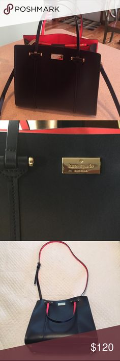 Kate Spade Kate Spade ♠️ reposhing very chic bag in navy and red super good  condition shoulder/tote kate spade Bags Shoulder Bags