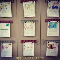 Cork boards to display student work