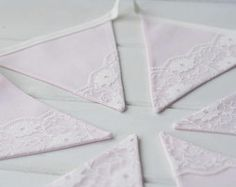 Pink Lace Bunting - Lace Bunting - Pink Nursery Bunting - Lace Garland