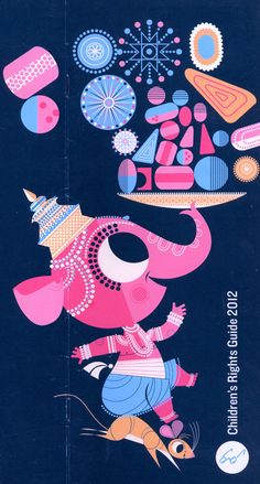 Sanjay Patel's delightful illustrations of Ganesha's Sweet Tooth for Chronicle Books