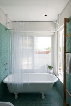 soporte para cortina, bañera  proyecto de nido lab