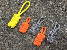 What to do with the short pieces of paracord you have left?  Zipper Pulls! #TritonParacord #ParacordProjects